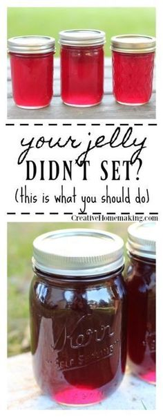 Jelly not setting? There is almost nothing more frustrating when canning than having your jelly not set. Yes, you can re-cook it! Pressure Canning Recipes, Canning Tips, Home Canning, Pressure Cooking, Canning Soup, Canning Apples, Ketchup, Canning Food Preservation, Preserving Food