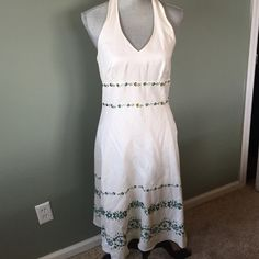 Ann Taylor dress Brand new never worn dress. Halter style and zippers on the side. Ann Taylor Dresses Midi