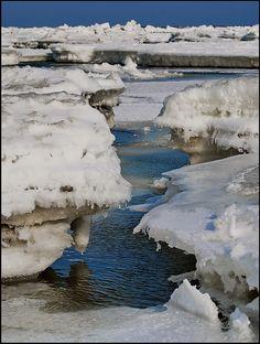 Black Sea, Winter in Constanta, Romania