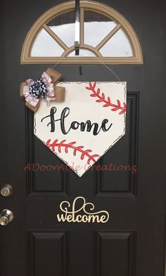 Baseball door hangers spring ideas for 2019 Baseball Plate, Baseball Signs, Baseball Couples, Travel Baseball, Baseball Scoreboard, Baseball Wreaths, Baseball Crafts, Baseball Decorations, Baseball Snacks