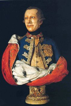 Francesco Orso Vittorio, Wax portrait of Amedeo III di Savoia circa 1780-1785. Collezione Franco Maria Ricci.