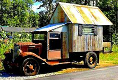The Flying Tortoise: Tiny Oldtime Rustic Road Dwellings...