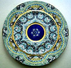 Rare Charles Poyard French Faience Relief Enamelled Plate. oh this is just marvelous, so wish had entire settings! Jared Viar The Design Guy