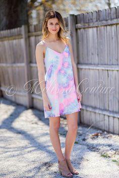 Purple & Pink Tie Dye Dress