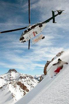 Heli-skiing in Telluride, Colorado