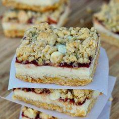 Oatmeal Cranberry Cheesecake Bars