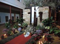 Cruz de la Asociación Cultural Entre Olivos de Puebla del Príncipe.