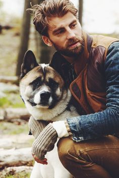 This is how I imagine Daniel Abrams from the novel, This Courageous Journey. And there's Griz, his dog!