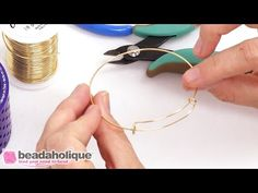 Videos: How to Make an Expandable Charm Bangle using the Artistic Wire 3D Bracelet Jig | Beadaholique
