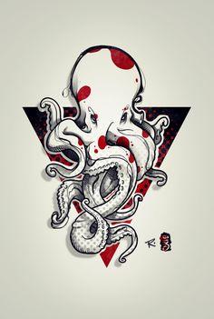 Octopus tattoo design by RemiisMeltingDots.deviantart.com on @DeviantArt