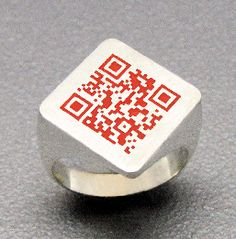 """QR CODE RING!!!  Brings new meaning to """"decoder ring."""" #potd"""