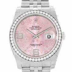 Women's Certified Pre-Owned Watches - Rolex Datejust automaticselfwind womens Watch 116244PFAO Certified Preowned * To view further for this item, visit the image link.