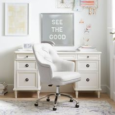 Cushy Lounge Sectional Sofa | Teen Sofa | Pottery Barn Teen Tufted Desk Chair, Desk Chair Teen, Swivel Chair, Desk Chairs, Best Office Chair, Office Rug, Lounge Seating, Lounge Couch, Stylish Chairs