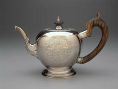 Jacob Hurd (American, 1702 or 1703-1758), Teapot,  about 1730-35, Boston, Massachusetts. Silver. Gift of William Storer Eaton in the name of Miss Georgiana G. Eaton. Photograph © Museum of Fine Arts, Boston