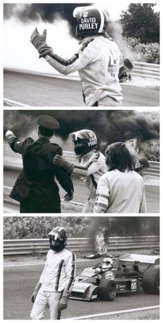David Purley trying to save Roger Williamson in 1973. One of the worst but most human moments in sporting history. This will bring you to tears! #hero: