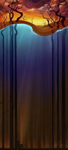 ♂ Dream imagination surrealism fantasy underwater world Altalamatox