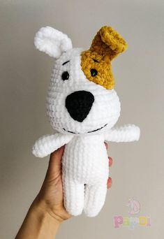 Please note that this is a crochet pattern (PDF file), but not a toy. The file will be available for download immediately after purchase. This crochet pattern contains a detailed description of how to create amigurumi piebald doggy. My finished doggy is about 25 cm tall. Pattern is