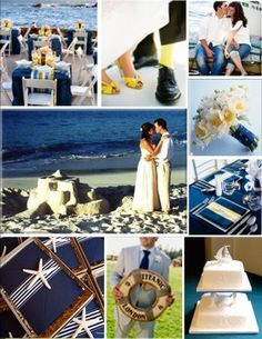 Nautical-theme wedding moodboard