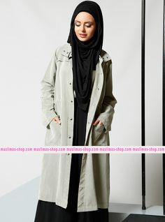 Le nostra offerta #vestitoislamico per la donna #musulmana  Grippered Topcoat - Refka - Fabric Info:  70% Modal  30% Polyester - SKU: 198370. Buy now at http://www.muslimas-shop.com/grippered-topcoat-refka.html