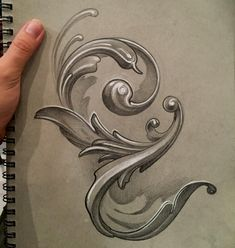 Im LOVING this gray paper. And Im LOVING actually taking the time and sitting do… Im LOVING this gray paper. And Im LOVING actually taking the time and sitting down to draw with people! Molduras Vintage, Filigree Tattoo, Ornamental Tattoo, Ornament Drawing, Meaningful Tattoos For Women, Engraving Art, Temporary Tattoo Designs, Love Actually, Carving Designs