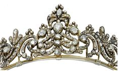 Queen Sophie of Sweden's diamond star and pearl tiara - a present from her half brother,Duke Adolf of Nassau, on her marriage with Oscar II of Sweden in 1857.