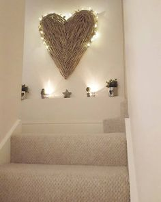 Heart and Stars Bathroom Decor . Heart and Stars Bathroom Decor . 7 Luxury Bathroom Decor Ideas with Colorful Ceilings Stairway Decorating, Decorating Ideas, Decor Ideas, Stairway Lighting, Stair Walls, Stairs, Basement Stairway, Flur Design, Sweet Home