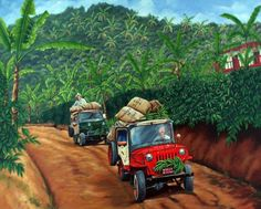 Jeepao en las fincas cafeteras Colombianas Colombian Culture, Colombian Art, Colombian Coffee, Coffee Farm, Coffee Plant, Coffee Corner, Coffee Shop, Planet Coffee, Coffee Artwork
