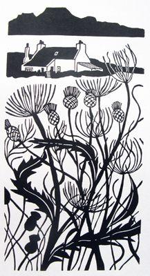 Liz Myhill: illustrator, designer and contemporary artist Linocut Prints, Art Prints, Block Prints, Linoprint, Landscape Prints, Wood Engraving, Tampons, Contemporary Artists, Printmaking