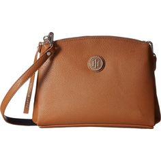 Tommy Hilfiger Mara - East/West Crossbody (Cognac/Navy) Cross Body... (185 PEN) ❤ liked on Polyvore featuring bags, handbags, shoulder bags, tan, purses crossbody, tommy hilfiger crossbody, navy blue crossbody purse, brown purse and crossbody shoulder bags