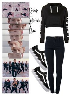 """Being In Monsta X's Hero"" by llavenderdreams77 ❤ liked on Polyvore featuring STELLA McCARTNEY, Vans, Topshop, hero, kpop and monstax"