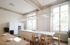 Appartement Luxembourg, Paris. Cuisine et salle à manger