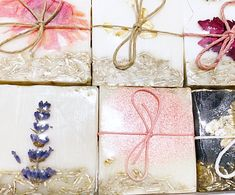 "Thanks for the kind words! ★★★★★ ""Super cute packaging and smells great, too! Bought three of these; Two to gift and one for myself! Can't wait to try out this sampler pack!"" Crystal C. Baby Shower Gifts For Guests, Soap Favors, Cute Packaging, Kind Words, Allergies, Coconut, Gift Wrapping, Messages, Crystals"