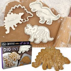Dig-Ins Fossil Cookie Cutters (perpetual kid)