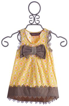 Mustard Pie Girls Adelaide Top Yellow with Bow $49.00