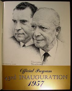 : Norman Rockwell - President Dwight David Eisenhower and Vice President Richard Milhouse Nixon were from an original sketch donated by Norman Rockwell in 1957 to the Inaugural Committee. American Presidents, Us Presidents, American History, Republican Presidents, Norman Rockwell Art, Norman Rockwell Paintings, Presidential Portraits, Portrait Art, Words