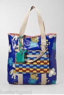 NWT Fossil KEY PER LARGE N/S TOTE $98 BLUE ELEPHANT TURQUOIS...