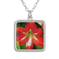 Lovely Amaryllis Personalized Necklace
