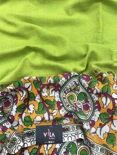Printed Kalamkari cotton saree with printed blouse PC with rich pallu Kalamkari Saree, Cotton Saree, Vera Bradley Backpack, Printed Blouse, Sarees, Boutique, Prints, Photography, Bags