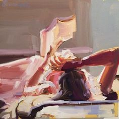 Reading woman, Laura Lacambra Shubert, b. North Carolina, USA