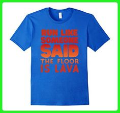 Mens Run Like The Floor Is Lava Funny Workout Cardio T-shirt 2XL Royal Blue - Workout shirts (*Amazon Partner-Link)