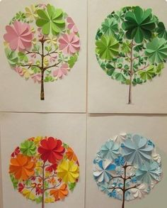 Paper circle christmas trees Circle paper crafts Circle paper crafts for kıds Circle paper crafts animals Circle paper crafts preschool Diy Paper, Paper Art, Paper Crafts, Handmade Crafts, Diy And Crafts, Arts And Crafts, Diy For Kids, Crafts For Kids, Art N Craft