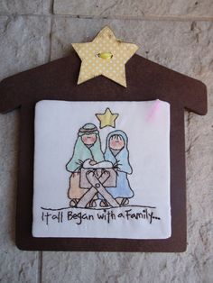 Craft Goodies: Day 1 Ornament-Hand Stitched Nativity