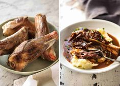 Port Braised Lamb Shanks - easy to make slow cooked lamb shanks in an incredible port wine sauce! Slow Cooker Lamb Roast, Slow Cooked Lamb Shanks, Braised Lamb Shanks, Lamb Recipes, Cooking Recipes, Slow Cooking, Cooking Ideas, Recipetin Eats, Recipe Tin