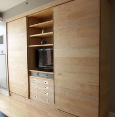 Modern Wall Unit of Maple