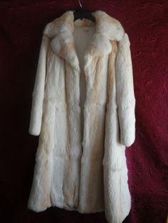 Vintage Rabbit Fur Coat Full Length and Sleeves Lined Size Medium - http://www.fur.me.uk/vintage-rabbit-fur-coat-full-length-and-sleeves-lined-size-medium.html