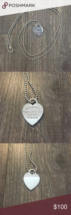 Tiffany & Co. Return to Tiffany Heart Tag Necklace Authentic Tiffany & Co. Return to Tiffany sterling silver Heart Tag Necklace in great condition! Make an offer! Tiffany & Co. Jewelry Necklaces
