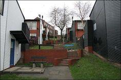 Houses in Byker redevelopment (1978)-RALPH ERSKINE
