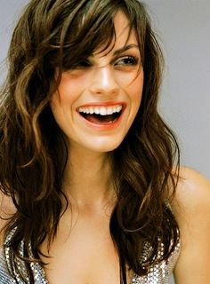 curly long haircuts with side bangs and layers - Google Search