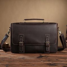 91.80$  Watch now - http://ali3e4.worldwells.pw/go.php?t=32774506992 - Foreign trade leather bag and handbag retro trend crazy horse leather business men Shoulder Messenger Bag tide