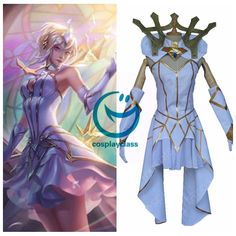 League of Legends LOL Luxanna Crownguard the Lady of Luminosity Cosplay Costume – CosplayClass #LeagueofLegends #LOL #LuxannaCrownguardCosplay #Costume #cosplayclass